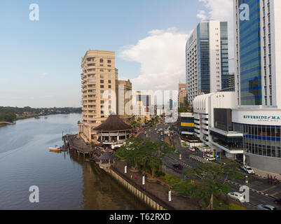 Riverside suites and Imperial hotel Astana wing, Kuching, Sarawak, Malaysia - Stock Image