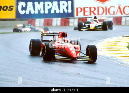 1993 Jean Alesi French Ferrari F93A Interlagos Brazilian GP 8th - Stock Image