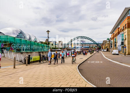 The Tyne riverside, Newcastle-upon-Tyne, UK. - Stock Image
