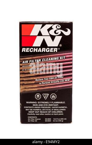 K & N Air Filter Cleaning Kit - Stock Image