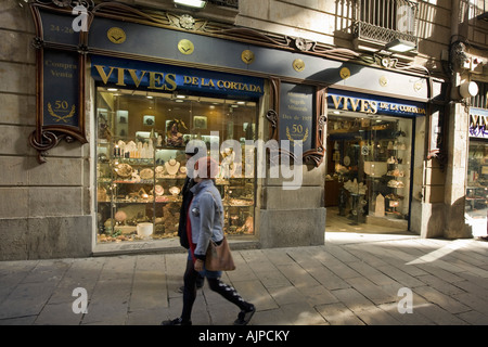 Barcelona Vives de la Cortada in historical center - Stock Image