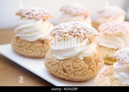 Whipped cream puffs - Stock Image
