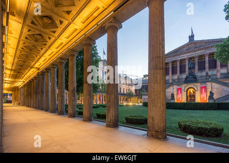 Old National Gallery, Old Museum, Colonnade,  Museum Island,  Berlin Mitte, Germany - Stock Image