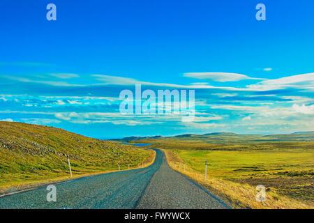 Landscape between Vardø and Hamningsberg on the Varanger-peninsula in arctic Norway. - Stock Image