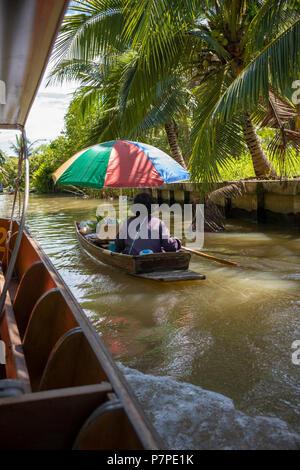 Floating market in Bangkok - Stock Image
