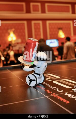 CES (Consumer Electronics Show), the world's largest technology trade show, held in Las Vegas, USA. - Stock Image