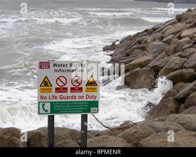Water Safety Information - Stock Image