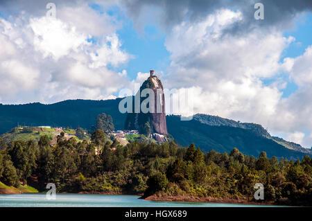 Rock of Guatape (Piedra de Penol) near to Medellin in Colombia - Stock Image