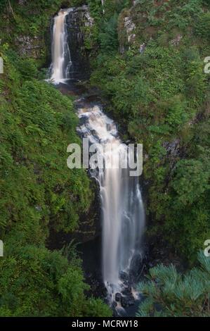Glenashdale Falls - double cascase, Arran, Scotland - Stock Image