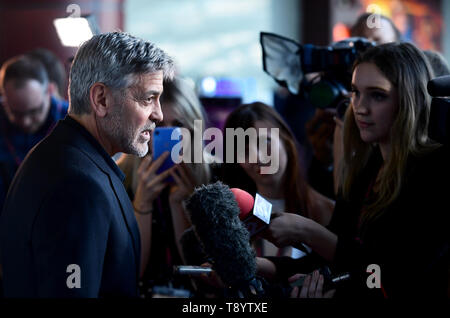 George Clooney attending the Catch-22 UK Premiere, held at VUE Cinema Westfield, London. - Stock Image