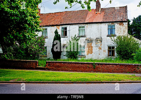 Run Down Country House, Wolviston, Billingham on Tees, North East England - Stock Image