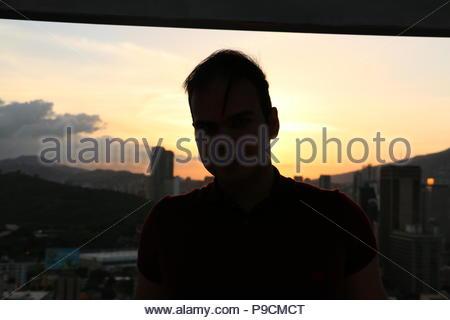 Vicente Quintero. Photo taken by Marcos Kirschstein from CitiBank Tower, in the Sabana Grande Area. Centro Comercial El Recreo. Caracas Venezuela - Stock Image