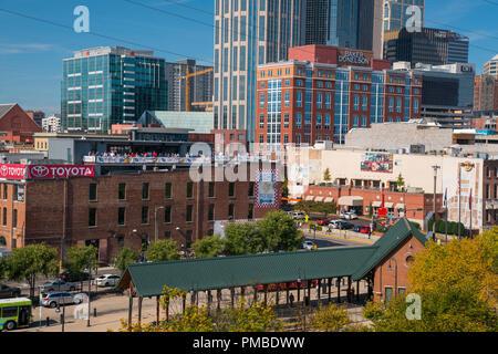 Nashville,  Tennessee skyline. - Stock Image