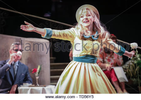 Royal Festival Hall, London, UK, 12th June 2019. Dove Cameron as Clara Johnson. Tony Award Winning romantic musical 'The Light in the Piazza' will be making its London premiere at the Royal Festival Hall on Wednesday 12th June and will run 14th June to 5th July. It stars soprano superstar Renée Fleming and Dove Cameron, star of Disney's 'The Descendants', as well as Alex Jennings, Rob Houchen, Celinde Schoenmaker and many others. Credit: Imageplotter/Alamy Live News - Stock Image