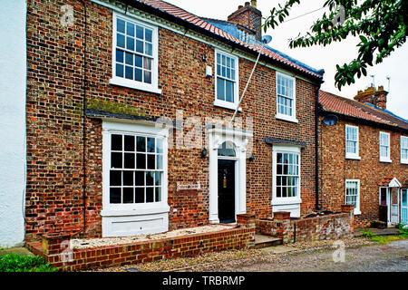 Period Houses, Chapel Row, Sadberge, Borough of Darlington, England - Stock Image