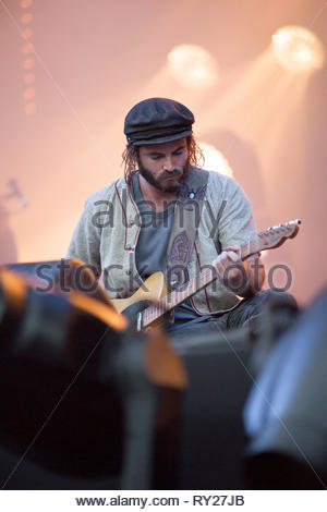 ANGUS & JULIA STONE performing live, 11 july 2015 - Stock Image