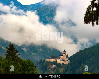 Castle Tures at sunrise, Campo Tures, Aurina Valley, Trentino-Alto Adige, Italy, Europe - Stock Image