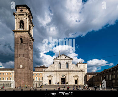 Italy Piedmont Turin San Giovanni cathedral and Bell Tower - Stock Image