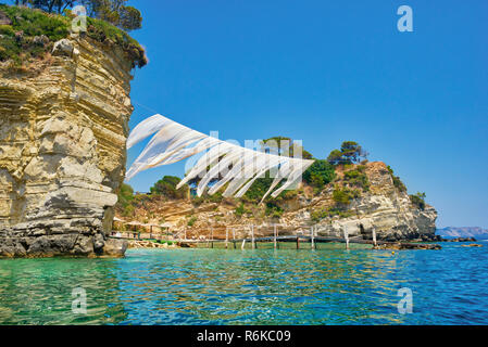 Cameo island from the sea. Summer vacation on island - Stock Image