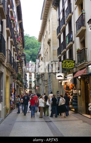 Old Town Donostia San Sebastian Spain - Stock Image