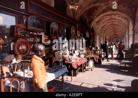 Paris France Place des Vosges Antique shop Acades - Stock Image