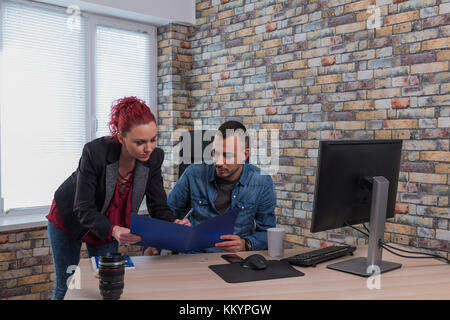 Image of two young businessmen - Stock Image