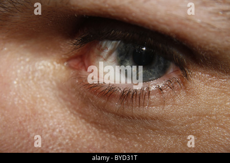 close up of man's eye - Stock Image
