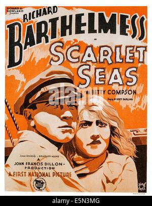 SCARLET SEAS, bottom right: Richard Barthelmess, 1928. - Stock Image