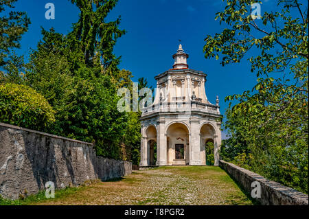 Italy Lombardy Unesco World heritage Site - Sacro Monte di Varese ( Varese sacred Mount ) - XIII Chapel -the descent of the holy spirit - Stock Image