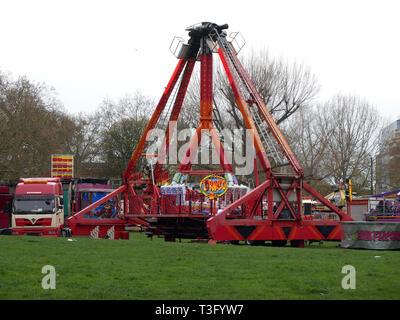 Fairground equipment ready to setup - Stock Image