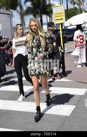 72nd Cannes Film Festival 2019, Celebrity Sightings. Pictured: Romee Strijd  When: 15 May 2019 Credit: IPA/WENN.com  **Only available for publication in UK, USA, Germany, Austria, Switzerland** - Stock Image