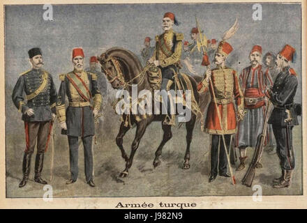 Ottoman Army 1897 - Stock Image