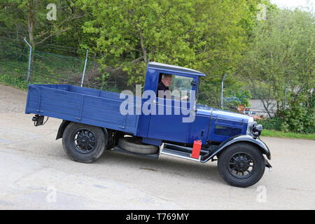 Morris Commercial T2 (1937), British Marques Day, 28 April 2019, Brooklands Museum, Weybridge, Surrey, England, Great Britain, UK, Europe - Stock Image