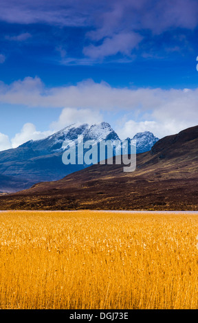 Loch Cill Chriosd along the Strathaird Peninsula on the Isle of Skye. - Stock Image