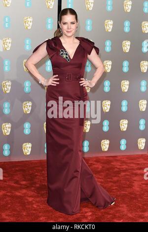 London, UK. 10th Feb, 2019. LONDON, UK. February 10, 2019: Amy Adams arriving for the BAFTA Film Awards 2019 at the Royal Albert Hall, London. Picture: Steve Vas/Featureflash Credit: Paul Smith/Alamy Live News - Stock Image