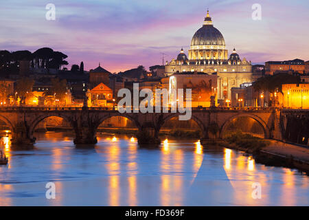 the St. Peter's Basilica in Rome, Italy; St Peter's Cathedral; Saint Peters Basilica - Stock Image