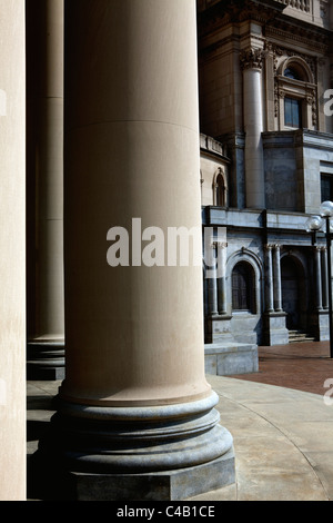 USA, Massachusetts, Boston.  Renaissance style columns and architecture of The Mother Church, The First Church of - Stock Image