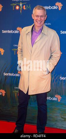 London, United Kingdom. 16 January 2019. Jeremy Vine arrives for the red carpet premiere of Cirque Du Soleil's 'Totem' held at The Royal Albert Hall. Credit: Peter Manning/Alamy Live News - Stock Image