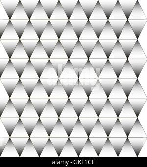 Black and white triangle pattern, background - Stock Image