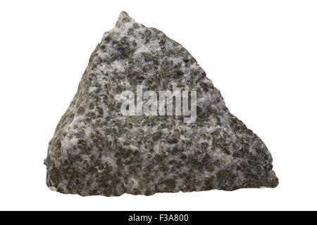 Diorite rock sample - Stock Image