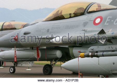 Zeltweg 2005 AirpPower 05 airshow Austria, Fighting Falcon F16 - Stock Image
