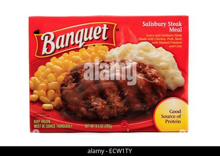 Banquet Salisbury Steak Ready Meal - Stock Image