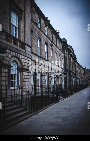 A row of houses in New Town, Edinburgh - Stock Image