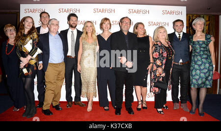 Photo Must Be Credited ©Alpha Press 078237 27/10/2016 Tom Riley, Tom Ray, Nicola Nic Ray, Joanne Froggatt, Michele Dotrice and Bill Clark at the UK film premiere of Starfish held at The Curzon Mayfair in London. - Stock Image