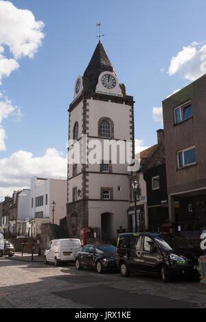 South Queensferry, clocktower, Scotland UK - Stock Image