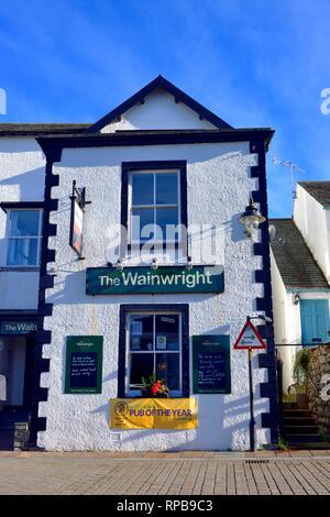 The Wainwright public house, Keswick, town centre,Lake District, Cumbria,England,Uk - Stock Image
