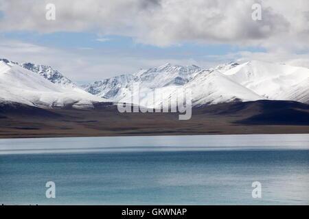 Nam Tso Lake in Central Tibet - Stock Image