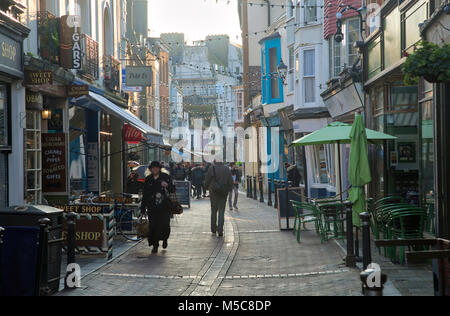 Hastings Old Town High Street - Stock Image