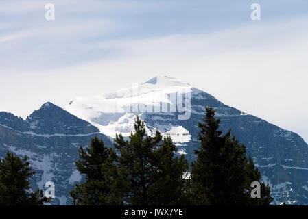 The Beautiful Victoria Glacier near lake Louise in Banff National Park Alberta Canada - Stock Image