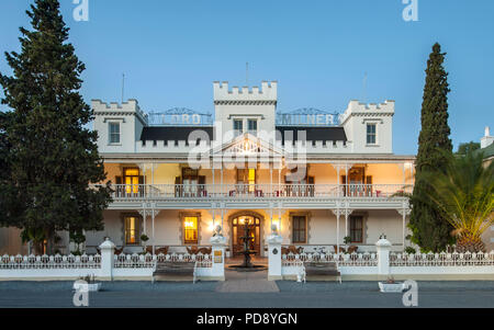 The Lord Milner Hotel in the Karoo town of Matjiesfontein in South Africa. - Stock Image